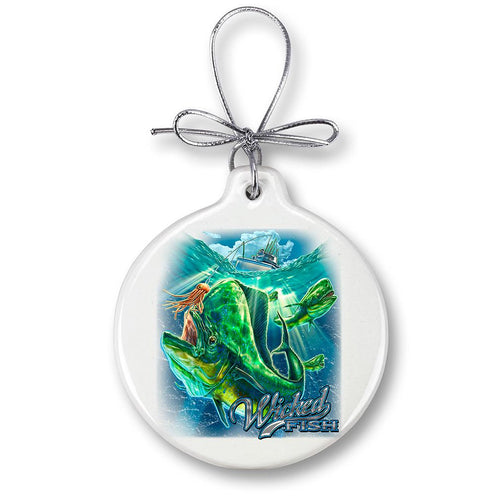 Mahi Mahi Fishing Christmas Ornament