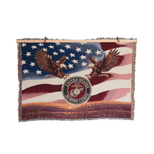 Marine Corps Tapestry Blanket-Military Republic