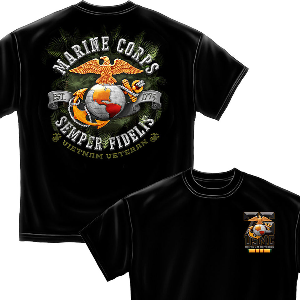 Marine Corps Vietnam Veteran T-Shirt-Military Republic