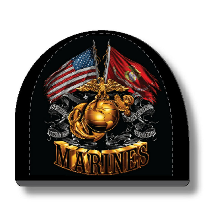 Marine Double Flag Beanie-Military Republic