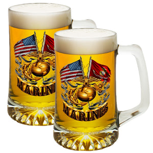 Marine Double Flag Tankard-Military Republic