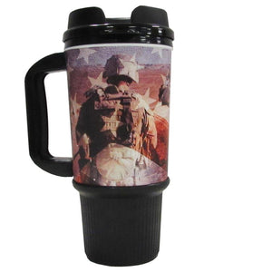 Marines 24 OZ Travel Mug-Military Republic