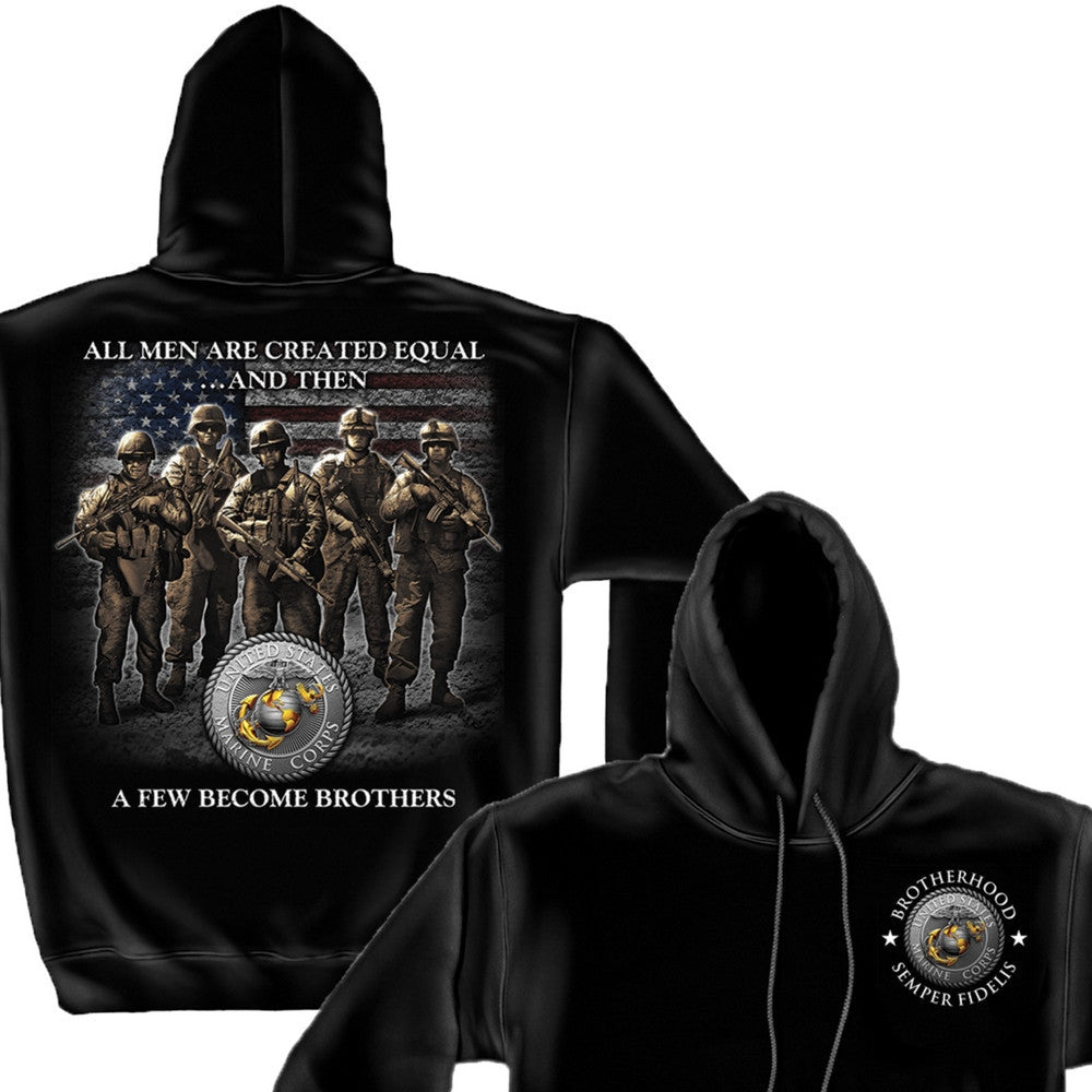 Marines A Few Became Brothers Hoodie-Military Republic