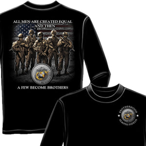 Marines A Few Became Brothers Long Sleeve Shirt-Military Republic