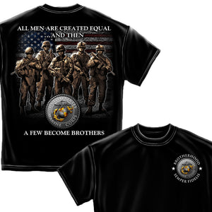 Marines A Few Became Brothers T-Shirt-Military Republic