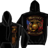 Marines Brotherhood Hoodie-Military Republic