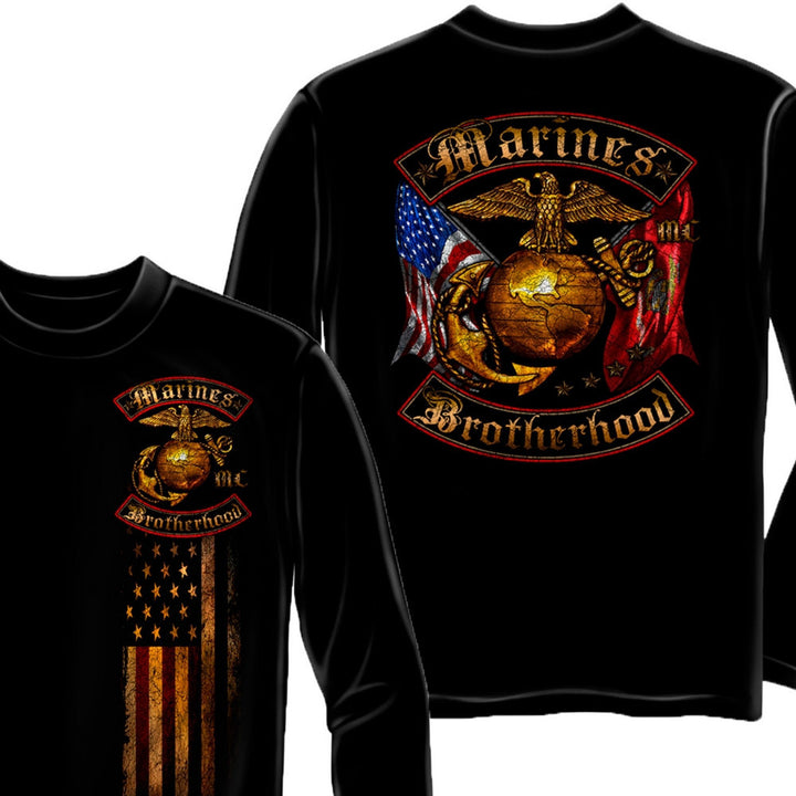 Marines Brotherhood Long Sleeve Shirt-Military Republic