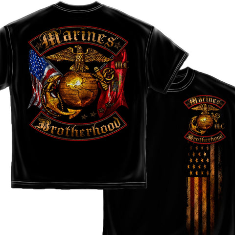 Marines Brotherhood T-Shirt-Claris Deals