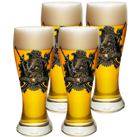 Marines Dog First In Last Out Pilsner Glasses Set-Military Republic