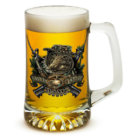 Marines Dog First In Last Out Tankard-Military Republic