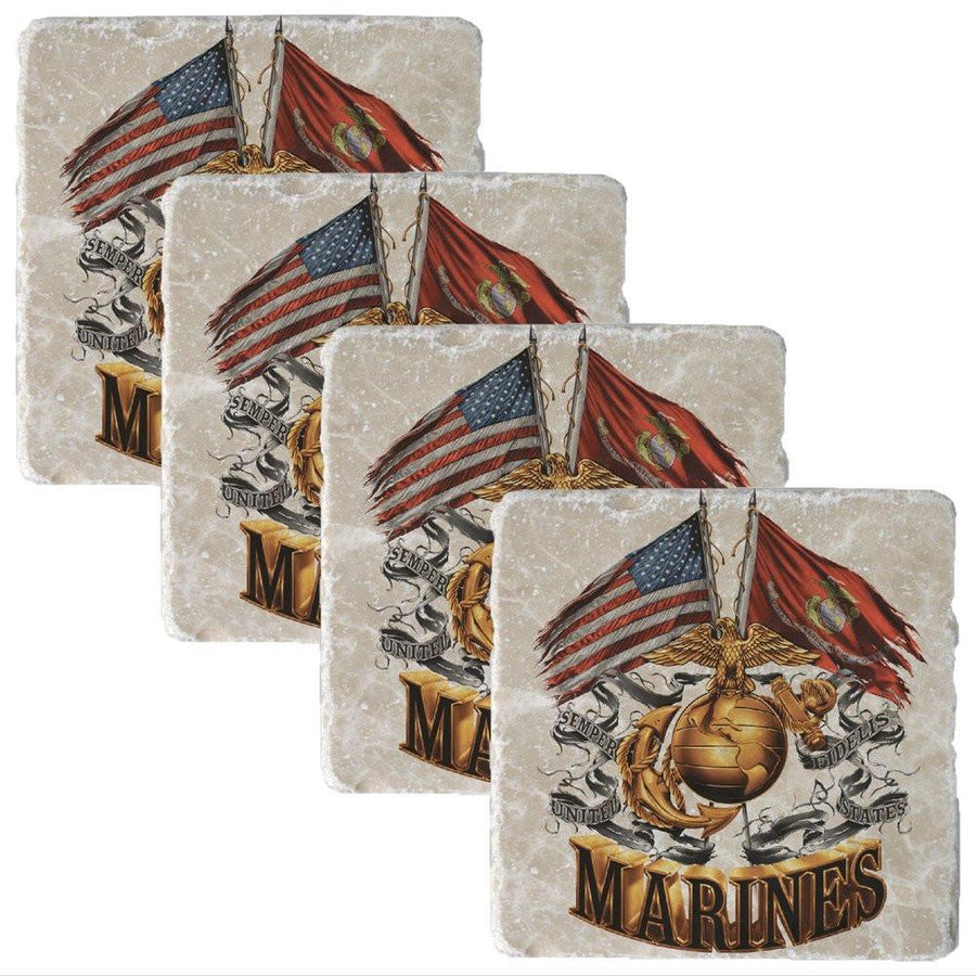 Marines Double Flag 2017 Collectors Set-Military Republic