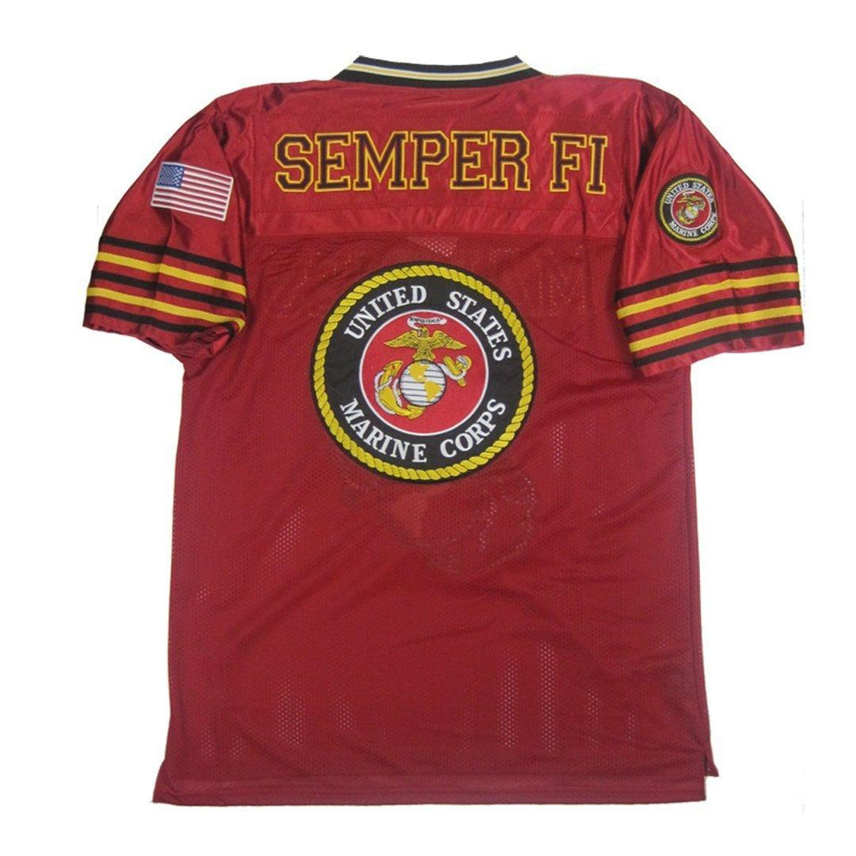 Marines Football Jersey-Military Republic