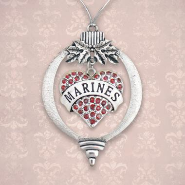 Marines Heart Christmas Ornament