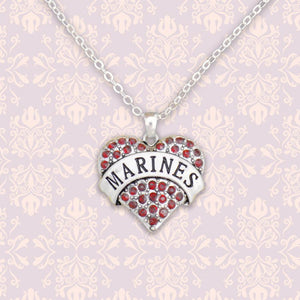Marines Heart Necklace-Military Republic