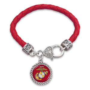 Marines Leather Bracelet-Military Republic