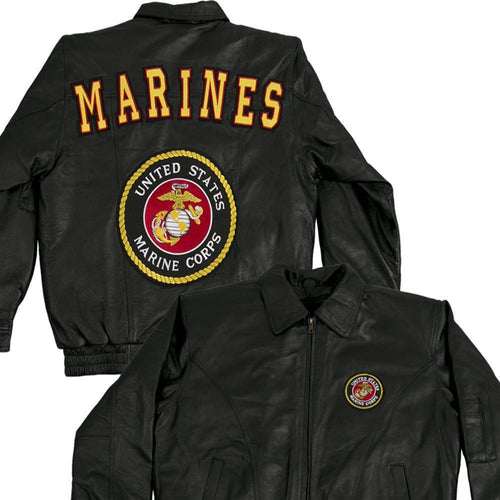 Marines Leather Jacket-Military Republic