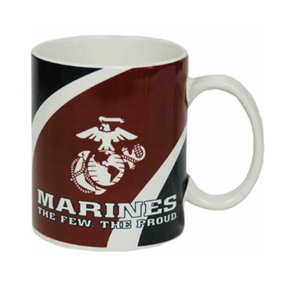 U.S. Marine Corps White Ceramic Mug with USMC Logo