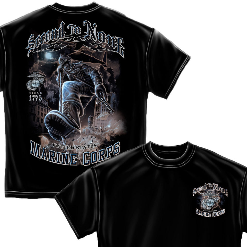 Marines Second To None T-Shirt-Military Republic