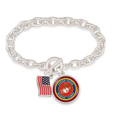 Marines Toggle Bracelet With American Flag-Military Republic