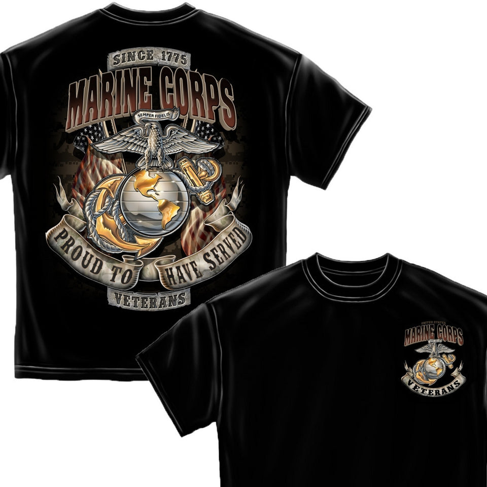 Marines Veteran T-Shirt-Military Republic