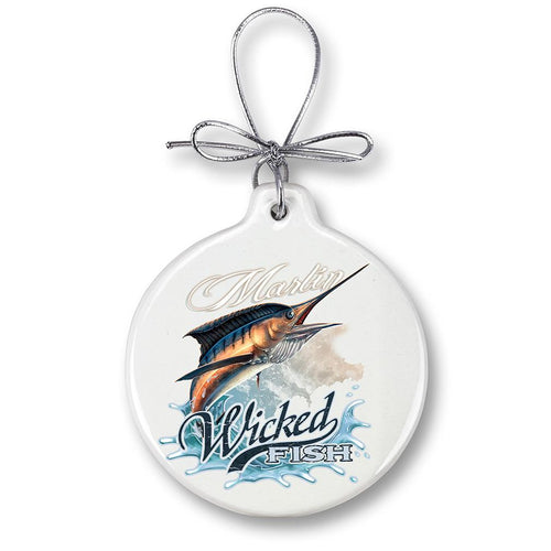 Marlin Fishing Christmas Ornament
