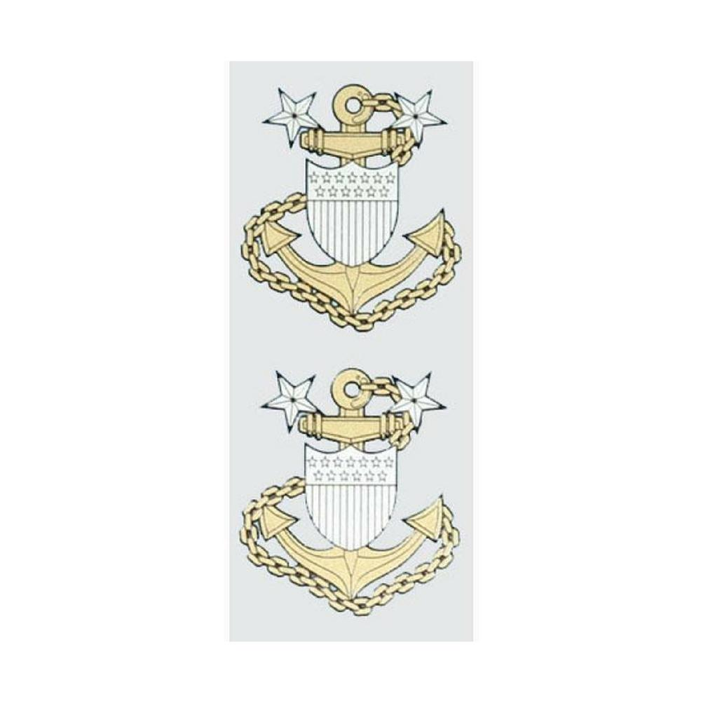 Master Chief Petty Officer E-9 2-Piece Decals-Military Republic