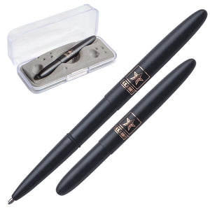 Matte Black Bullet Space Pen with U.S. Army Star Insignia