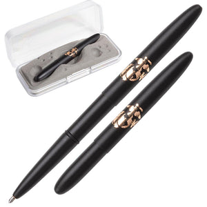 Matte Black Bullet Space Pen with U.S. Marines Insignia