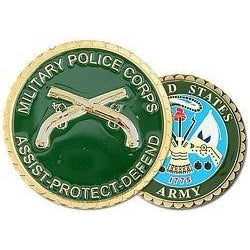 Military Police (MP) Crossed Pistols Challenge Coin (38MM inch)