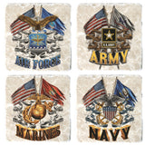 Military Veteran Services Coaster Set-Military Republic