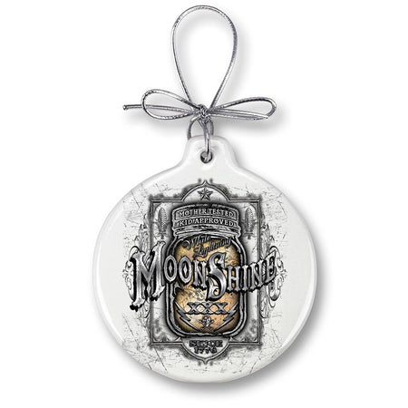 Moon Shine Mason Jar Christmas Ornament