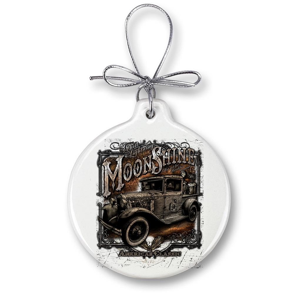 Moon Shine Truck Jar Christmas Ornament