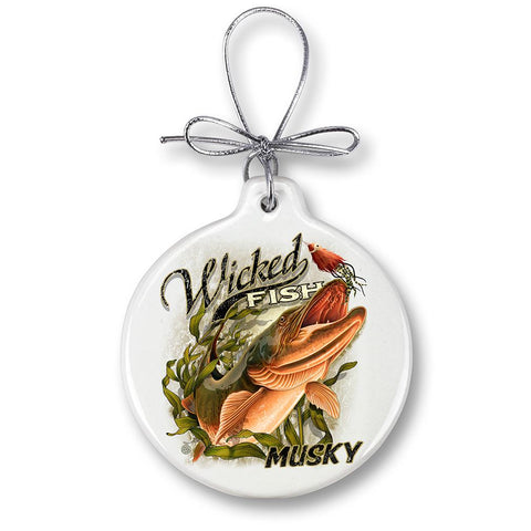 Muski Fishing Christmas Ornament