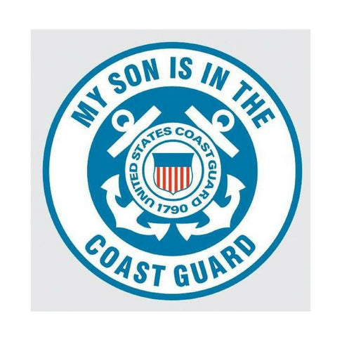 My Son is in the Coast Guard with United States Coast Guard Crest Decal-Military Republic
