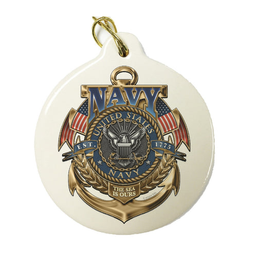Navy Badge Christmas Ornament-Military Republic