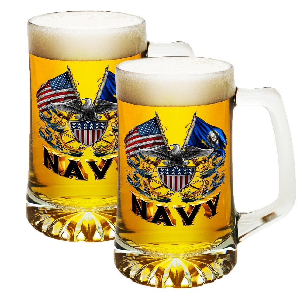 Navy Double Flag Tankard-Military Republic