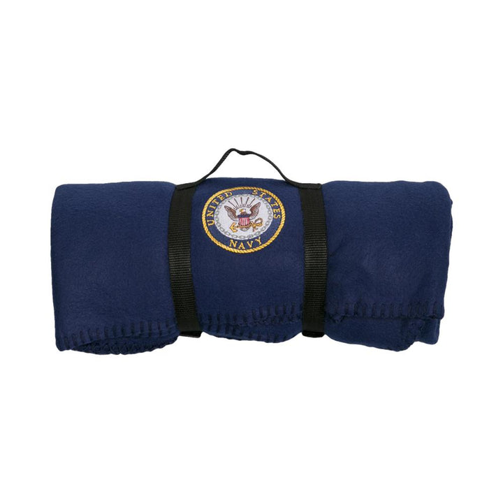 Navy Polar Fleece Blanket-Military Republic