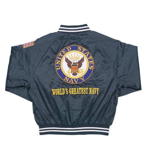 U.S. Navy Satin Jacket - Blue