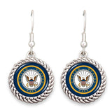 Navy Seal Rope Edge Earrings-Military Republic