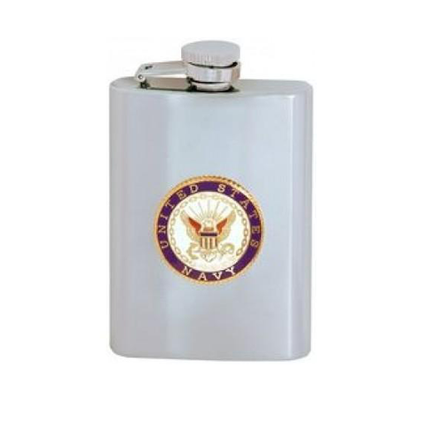 NAVY Stainless Steel Flask (8oz)