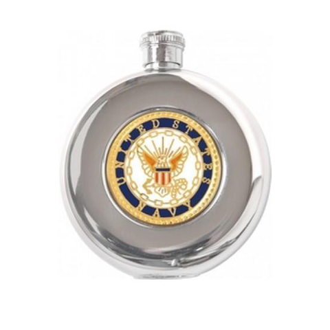 Navy Stainless Steel Flask Round (5oz)