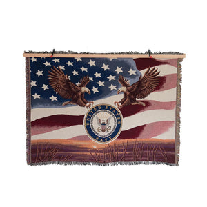 Navy Tapestry Blanket-Military Republic
