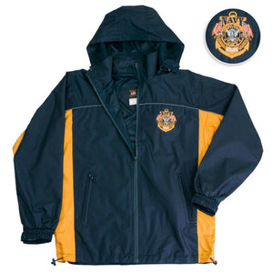 Navy The Sea Is Ours Windbreaker Jacket-Military Republic