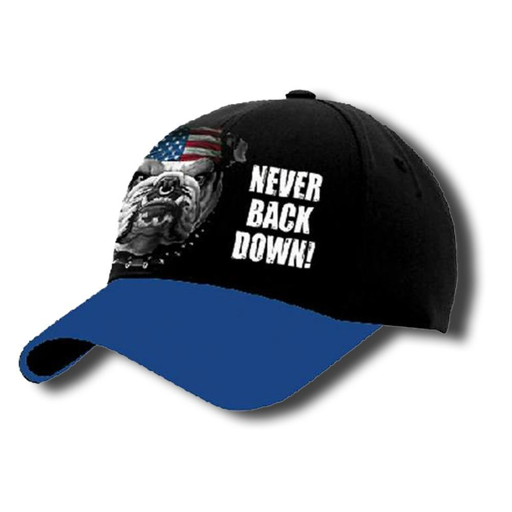 Never Back Down Cap-Military Republic