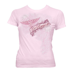 Nurse Pink Foil T-Shirt-Military Republic