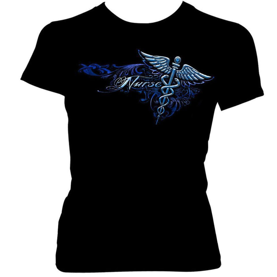 Nursing Silver Wings T-Shirt-Military Republic
