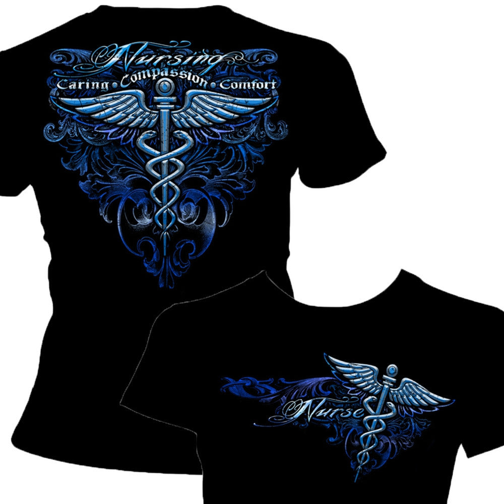 Nursing-Silver-Wings-T-Shirt-Claris-Deals