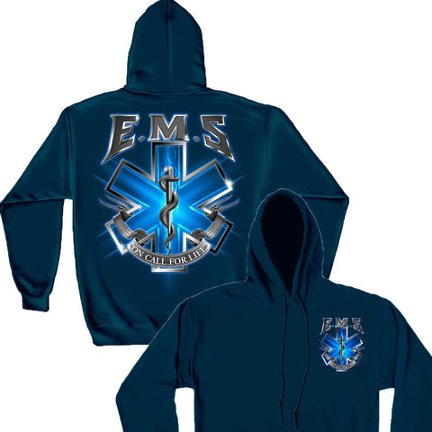 On Call For Life EMS Hoodie-Military Republic