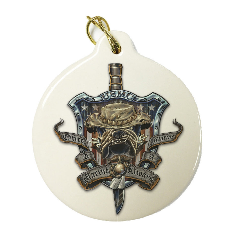Once A Marine Always A Marine Christmas Ornament-Military Republic
