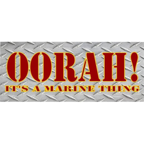 OORAH! It's A Marine Thing Photo License Plate